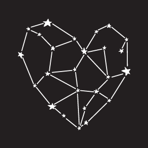 Constellation shaped like a Heart icon